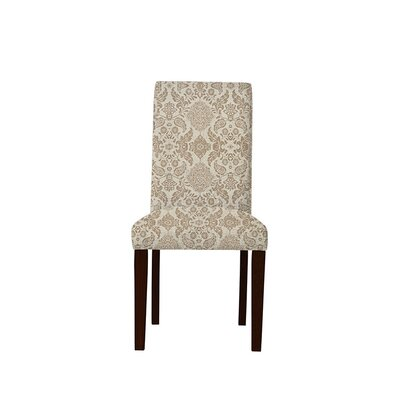 Tribeca Upholstered Dining Chair Upholstery: Bentley Fabric Brown/Off White