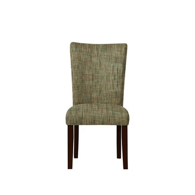 Triche Upholstered Dining Chair Upholstery: Brown/Gray