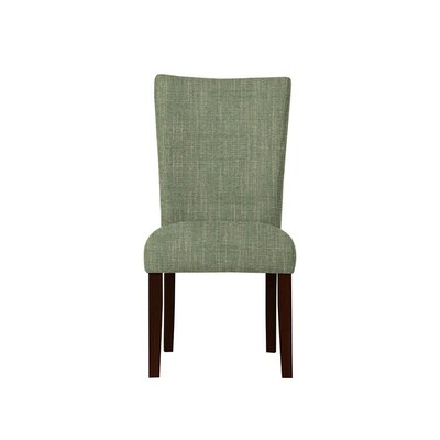 Triche Upholstered Dining Chair Upholstery: Gray/Green