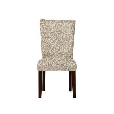Triche Upholstered Dining Chair Upholstery: Bentley Fabric Brown/Off White