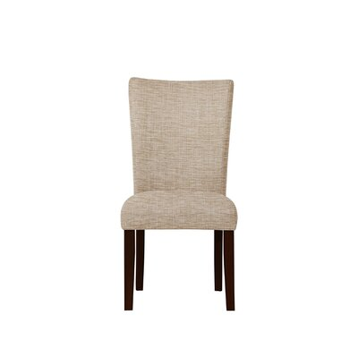 Triche Upholstered Dining Chair Upholstery: Blue
