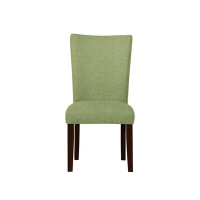 Triche Upholstered Dining Chair Upholstery: Green