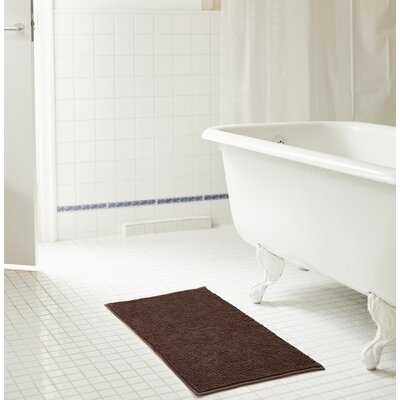 Bowden Short Pile Chenille Bath Rug Color: Chocolate, Size: 17 x 24