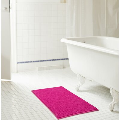 Bowden Short Pile Chenille Bath Rug Color: Fuchsia, Size: 17 x 24