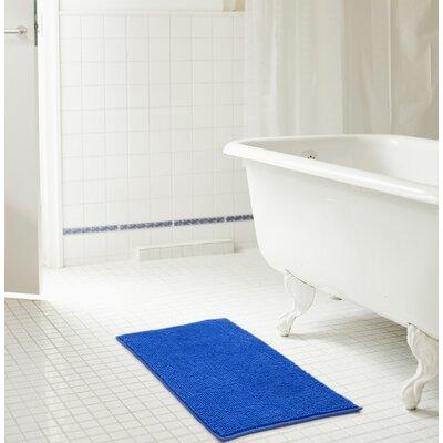 Bowden Short Pile Chenille Bath Rug Color: Royal Blue, Size: 17 x 24