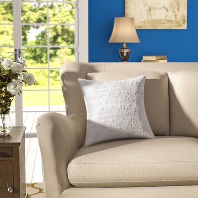Emy Quilted Throw Pillow Color: White