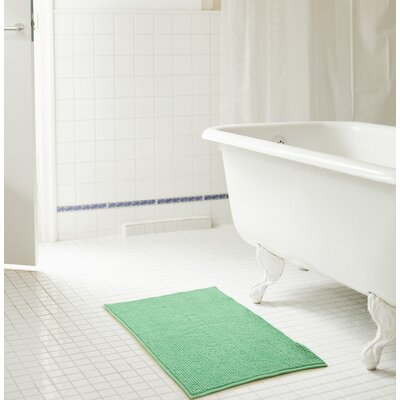 Bowden Short Pile Chenille Bath Rug Color: Sea Glass, Size: 17 x 24