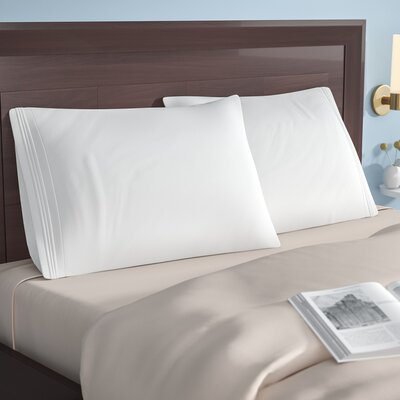 Patric 1500 Thread Count Solid Pillowcase Pair Size: Standard, Color: White