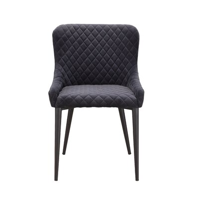 Rickman Upholstered Dining Chair Upholstery Color: Gray