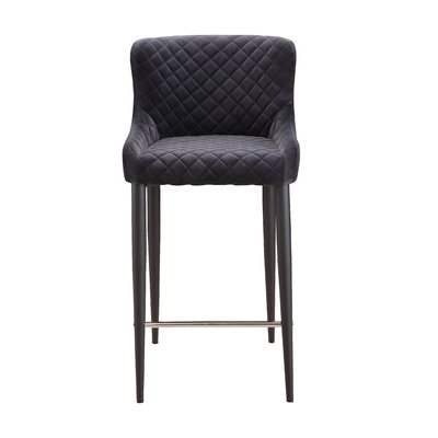 Rickman Counter Bar Stool Upholstery: Gray