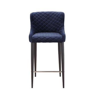 Rickman Counter Bar Stool Upholstery: Blue