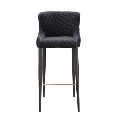 Rickman Bar Stool Upholstery: Gray