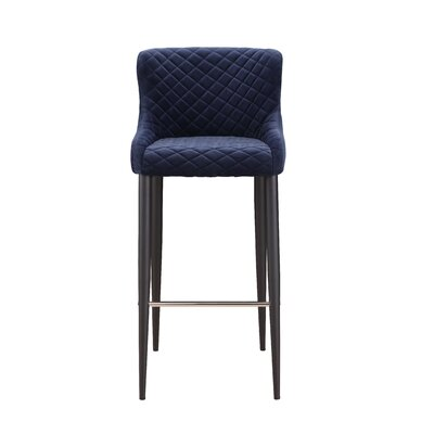 Rickman Bar Stool Upholstery: Blue