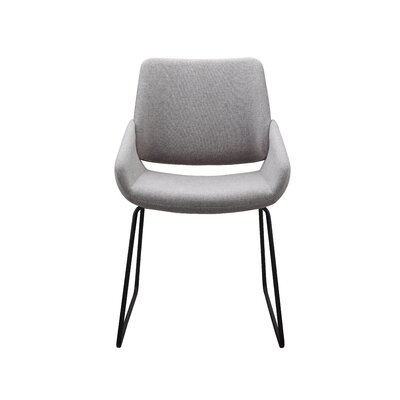 Ridder Upholstered Dining Chair Upholstery Color: Gray
