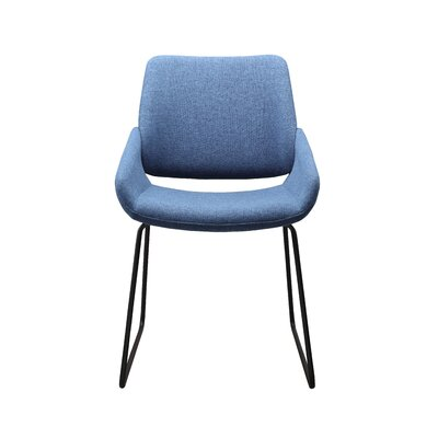 Ridder Upholstered Dining Chair Upholstery Color: Blue