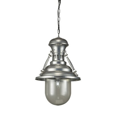 Maloney Pewter 1-Light Mini Pendant