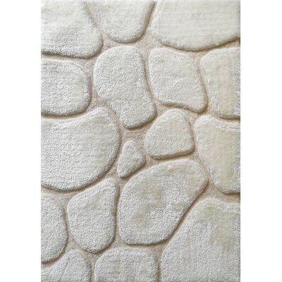 Widcombe Hand-Tufted Ivory Area Rug Size: Rectangle 76 x 103