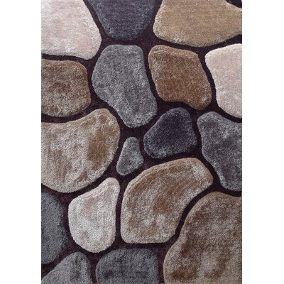 Wickstrom Hand-Tufted Brown/Gray Area Rug Size: Rectangle 76 x 103