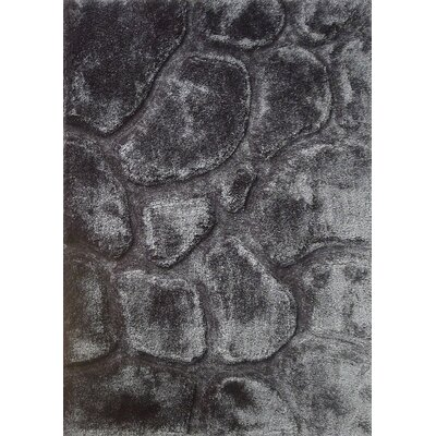 Wideman Hand-Tufted Steel Gray Area Rug Size: Rectangle 76 x 103