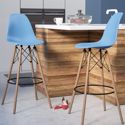 Alyssa 29.5 Bar Stool Finish: Blue