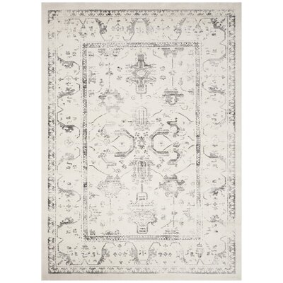 Porcello Ivory/Light Gray Area Rug Rug Size: Rectangle 8 x 112