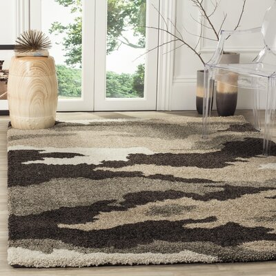 Hanover Beige/Brown Area Rug Rug Size: Rectangle 53 x 76