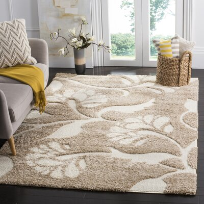 Marybell Light Creme Area Rug Rug Size: Rectangle 53 x 76