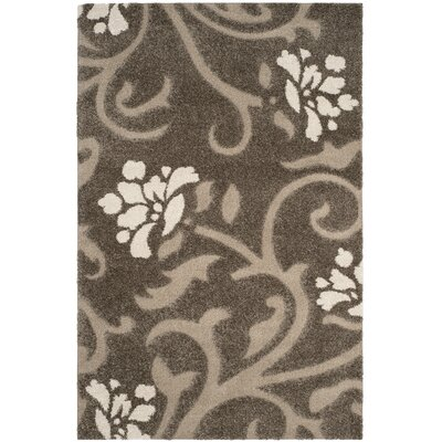 Duffey Smoke/Beige Area Rug Rug Size: Rectangle 53 x 76