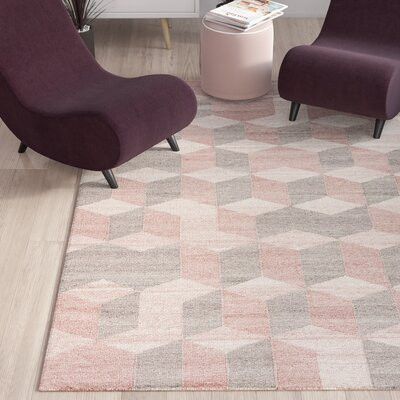 Samara Blush Indoor/Outdoor Area Rug Rug Size: Rectangle 5 x 8