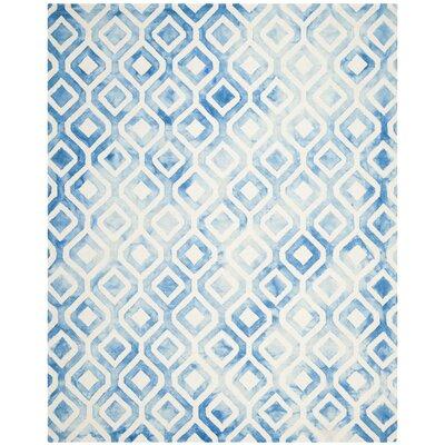 Euphemia Hand-Woven Ivory/Blue Kids Rug Rug Size: Rectangle 8 x 10