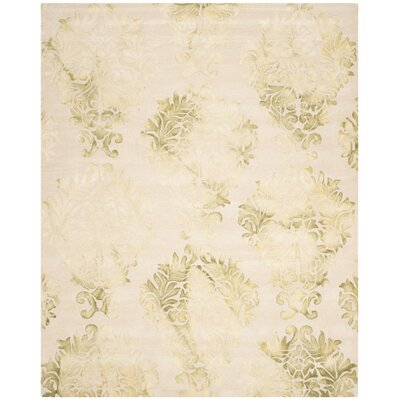 Dip Dye Hand-Woven Green/Ivory Area Rug Rug Size: Rectangle 8 x 10