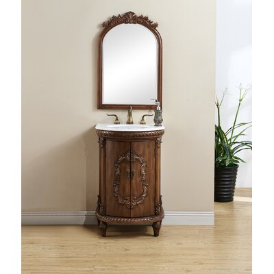 Methuen 21 Single Bathroom Vanity Set Base Finish: Teak