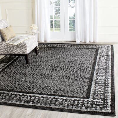 Timothee Black/Silver Area Rug Rug Size: Rectangle 8 x 10