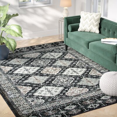 Pratt Black Area Rug Rug Size: Rectangle 67 x 96