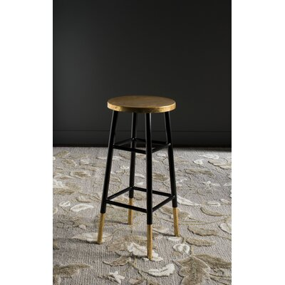 Mizar 30 Bar Stool Upholstery: Black / Gold