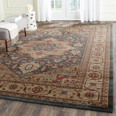 Alto Navy/Natural Area Rug Rug Size: Rectangle 8 x 11