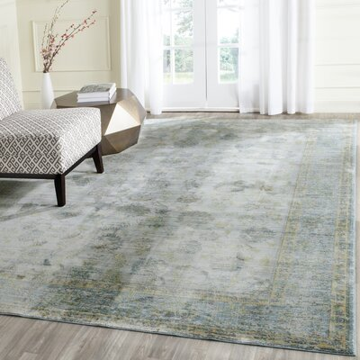 Esmeyer Light Blue/Turquoise Area Rug Rug Size: Rectangle 8 x 10