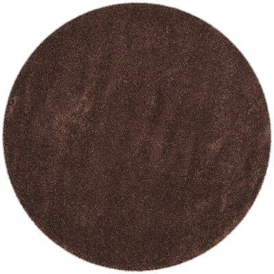 Holliday Brown Rug Rug Size: Round 51