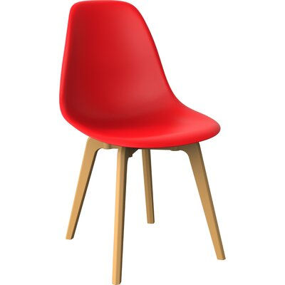 Wendler Dining Chair (Set of 4) Finish: Red