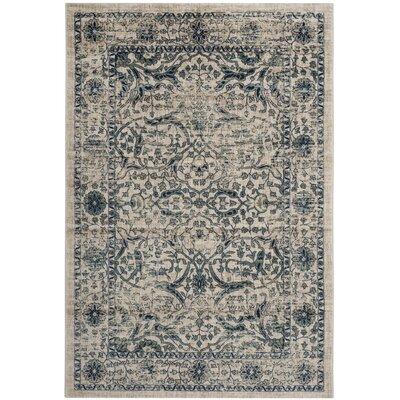 Montelimar Beige/Blue Area Rug Rug Size: Rectangle 51 x 76