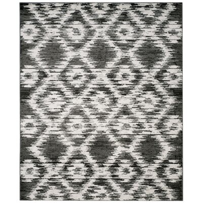 Schacher Charcoal/Ivory Area Rug Rug Size: Rectangle 8 x 10