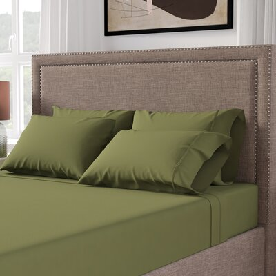 Cullen 800 Thread Count 100% Cotton Sheet Set Size: Queen, Color: Sage