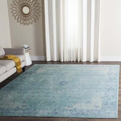 Esmeyer Blue Area Rug Rug Size: Rectangle 8 x 10