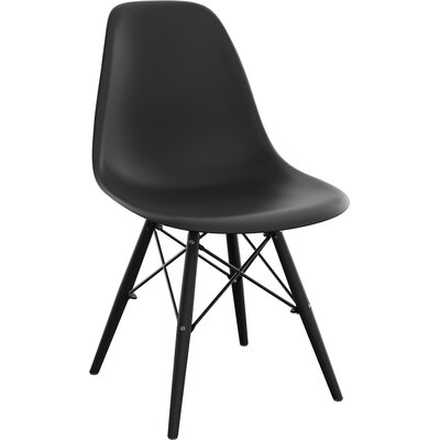Wendler Dining Chair (Set of 4) Finish: Black