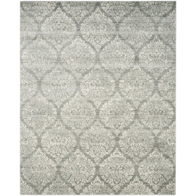 Augustus Gray/Silver Area Rug Rug Size: Rectangle 8 x 10