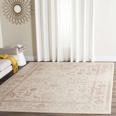 Issa Ivory/Rose Area Rug Rug Size: Rectangle 8 x 10