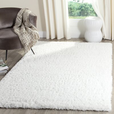 Bilroy White Area Rug Rug Size: Rectangle 51 x 76