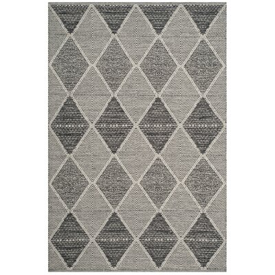 Oxbow Hand-Woven Black Area Rug Rug Size: Rectangle 5 x 8