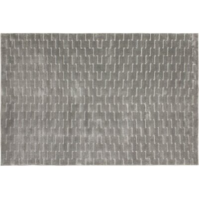 Siona Hand-Tufted Silk Silver/Lt. Gray Indoor Area Rug Rug Size: Rectangle 6 x 9