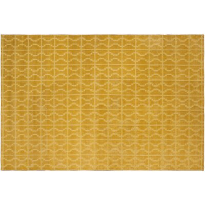 Siona Hand-Tufted Silk Gold Indoor Area Rug Rug Size: Rectangle 42 x 6